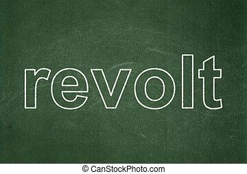政治, concept:, 反乱, 上に, 黒板, 背景
