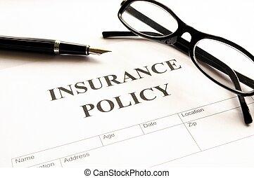 政策, 保險