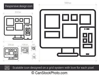 敏感, 線, デザイン, icon.