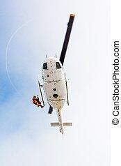 救助者, 下降, ヘリコプター