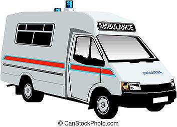 救護車, 搬運車, 矢量, 插圖