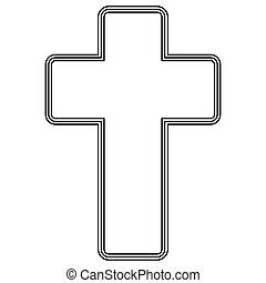 教会堂十字, アイコン