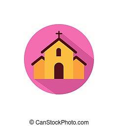 教会堂十字, デザイン, ベクトル, 隔離された
