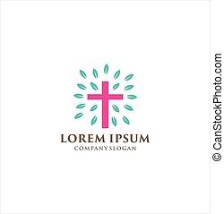 教会堂十字, ロゴ, キリスト, ベクトル, イエス・キリスト, デザイン, symbols., キリスト教徒