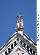 教会堂十字, 保有物, ∥ディ∥, croce, 天使, バシリカ, santa, franciscan, イタリア, cross), -, (basilica, 2, 有名, 神聖, フィレンツェ