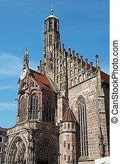 教会, の, 私達の, 女性, 中に, nuremberg, ドイツ