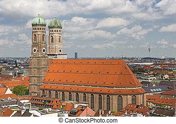 教会, の, 私達の, 女性, (frauenkirche), 中に, ミュンヘン, ドイツ