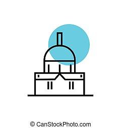教会, アイコン, ファサド, 隔離された, 寺院