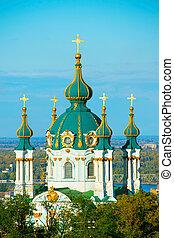 教会, ウクライナ, kiev, andriyivska