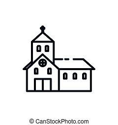 教会, カトリック教, デザイン, シンボル, キリスト教徒, ベクトル