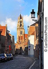 教会, サルバドール, st. 。, bruges, タワー, ベルギー