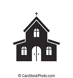 教会, ベクトル, アイコン