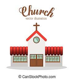 教会, ベクトル, illustration., デザイン