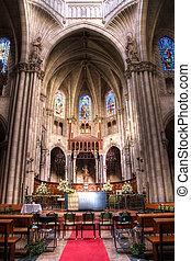 教会, 中に, ヨーロッパ