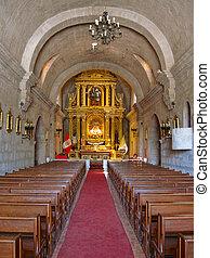 教会, 中に, 南アメリカ, 中に, arequipa, ペルー