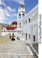 教会, 中に, messochori, 村, karpathos, ギリシャ