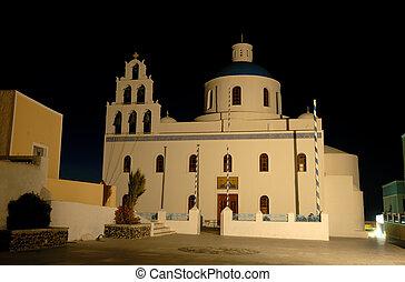 教会, 中に, oia, 島, santorini, ギリシャ