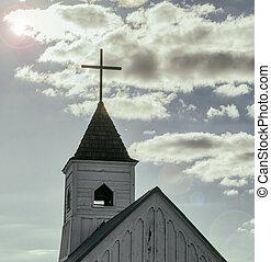 教会, 信頼, イメージ, 概念, 宗教