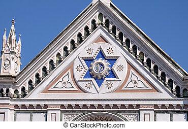 教会, 印, croce, 神聖, バシリカ, santa, franciscan, イタリア, cross), -, (basilica, ∥ディ∥, 有名, ihs, フィレンツェ