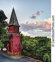 教会, 古い, steeple
