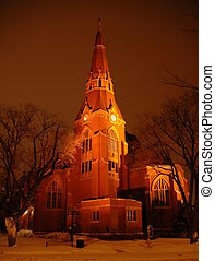 教会, 夕方