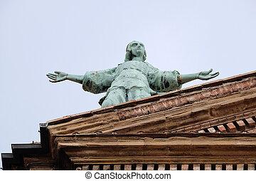 教会, 天使, emilia-romagna., ss., italy., salvatore., bologna.