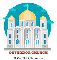 教会, 東, キリスト教徒, ドーム, 正統