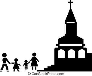 教会, 棒 図