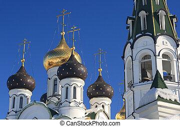教会, 空, 冬, 正統