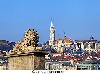 教会, 要塞, 漁師, ハンガリー, 光景, matthias, ブダペスト