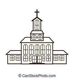 教会, 隔離された, アイコン