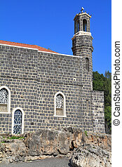 教会, -, 首位, tabgha