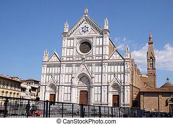 教会, croce, バシリカ, santa, franciscan, イタリア, cross), -, (...