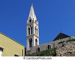 教会, george's, タワー, st. 。, jaffa, 2012