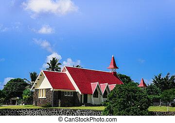 教会, malheureux, 島, マリシャス, 帽子