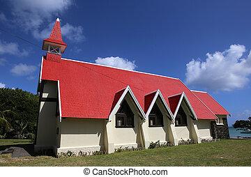 教会, malheureux, 帽子, 島, マリシャス