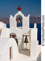 教会, oia, santorini, ギリシャ