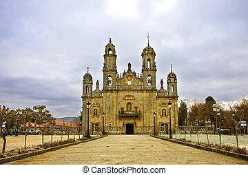 教会, orense, galicia, スペイン, ヨーロッパ