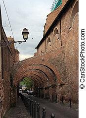 教会, romanesque, 扶壁