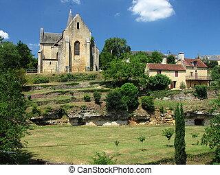 教会, salignac, 村