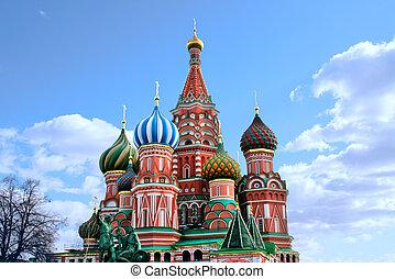 教会, st. 。, kremlin, basil's, 大聖堂, モスクワ