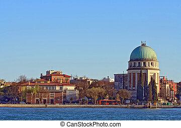 教堂, 在, 盛大, canel, 在中, 威尼斯, italy