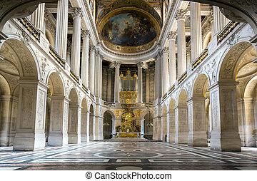 教堂, 在, versaille, 宮殿