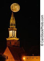 教堂, 夜晚