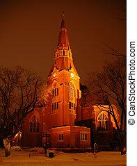 教堂, 晚上