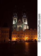 教堂, ......的, 我們, 夫人, 以前, tyn, 在, 布拉格