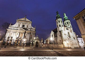 教堂, ......的, 聖徒, 熱心的倡導者, 彼得, 以及, 保羅, 以及, 聖徒, andrew's, 教堂