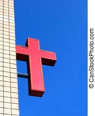 教堂, 紅色, 簽署