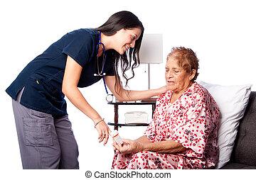 教學, 年長者, 藥物處理, 指示
