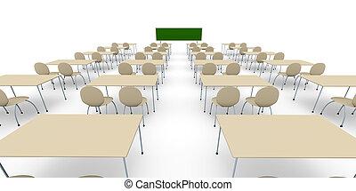 教室, -, 広く, ang